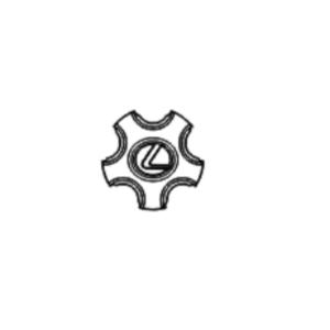Lexus LS Phase 3 Aluminium Wheel Centre Cap Badge